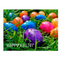 Colorful Easter Eggs in Grass Photo
