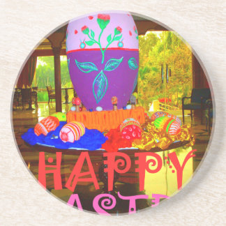 Happy Easter Colors Coaster