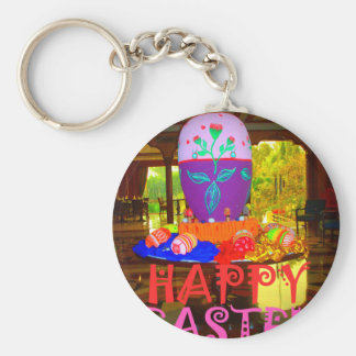 Happy Easter Colors Keychain