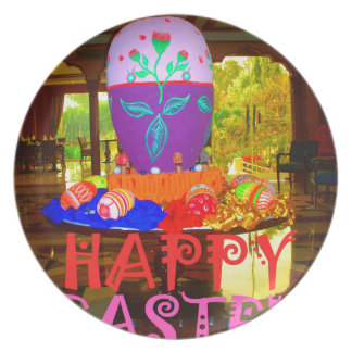 Happy Easter Colors Plate
