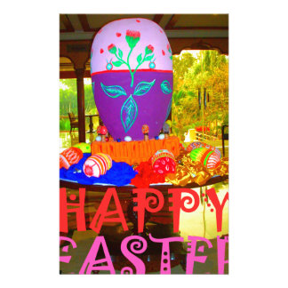 Happy Easter Colors Stationery