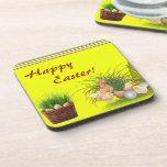 Happy Easter Cork Coaster