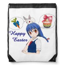 Happy Easter (costumizable) Drawstring Bag
