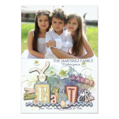 Happy Easter Craft Style Photo Card