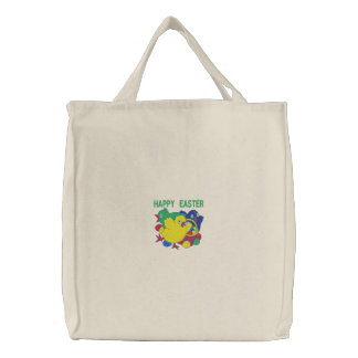 Happy Easter Custom Embroidered Bag