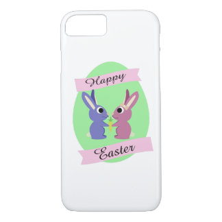 Happy Easter! Cute bunnies iPhone 8/7 Case