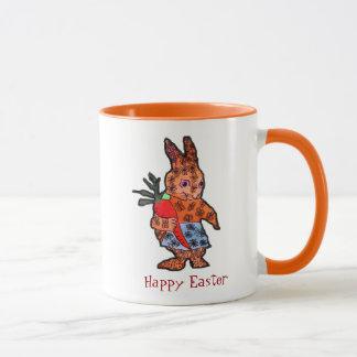 Happy Easter cute bunny illustration kids mug