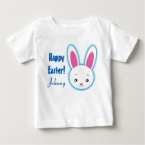 Happy Easter cute bunny personalized name Baby T-Shirt