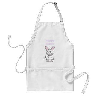 Happy Easter Cute Bunny Rabbit Cartoon Adult Apron