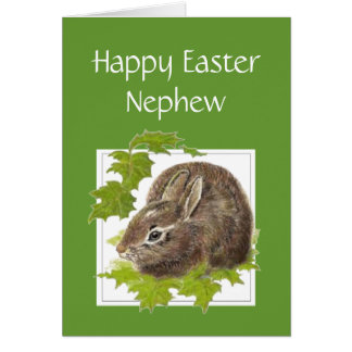 Happy Easter Cute Bunny Special Nephew Card