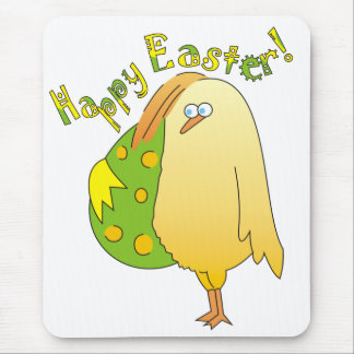 Happy Easter! Cute Cartoon Chick Mousepads
