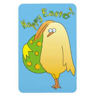Happy Easter! Cute Chick with Egg Easter Magnets