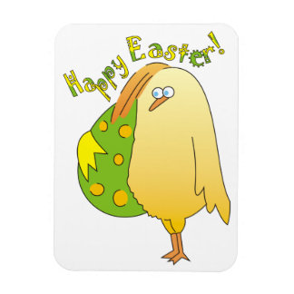 Happy Easter Cute Chick with Egg Magnets