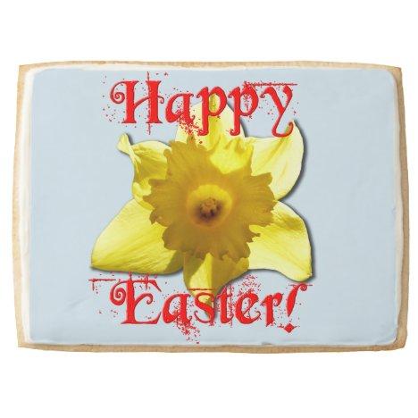 Happy Easter, Daffodil 01.2.2.T Jumbo Shortbread Cookie