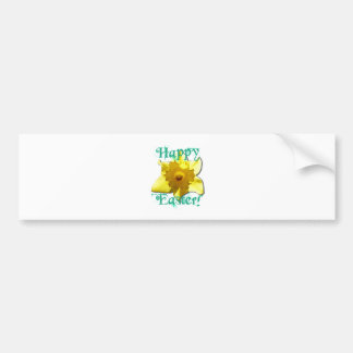 Happy Easter, Daffodil 01.2.T Bumper Sticker