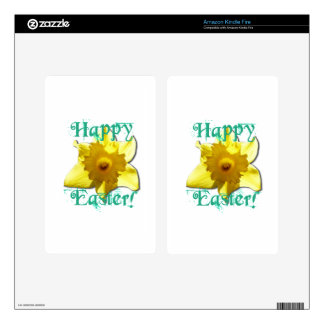 Happy Easter, Daffodil 01.2.T Decals For Kindle Fire