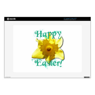 Happy Easter, Daffodil 01.2.T Laptop Decal