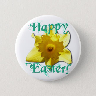 Happy Easter, Daffodil 01.2.T Pinback Button