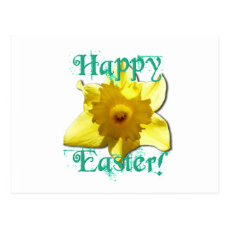 Happy Easter, Daffodil 01.2.T Postcard