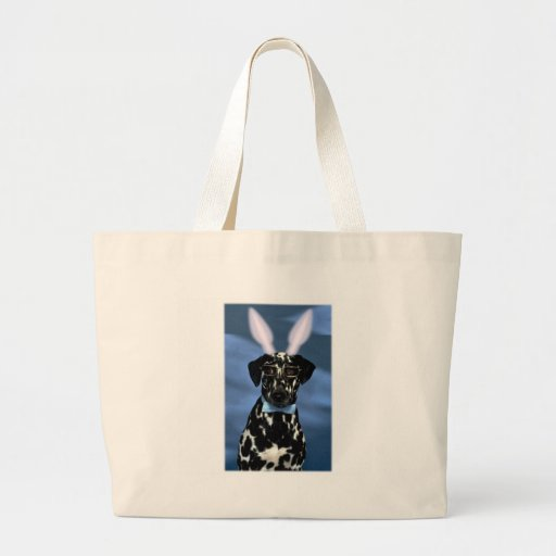 Happy Easter Dalmation Bunny Bag