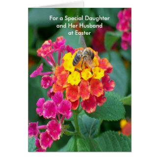 Happy Easter Daughter And Son-in-Law Card Bee