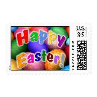 Happy Easter Decorated Egg Design Postage