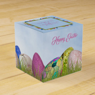 Happy Easter - Decorated Eggs Floral Photography Favor Box
