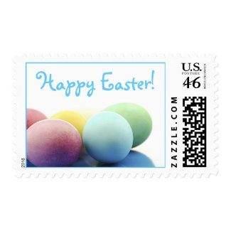 Happy Easter Decorated Eggs Stamps stamp