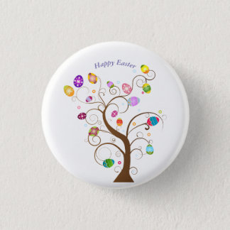 happy Easter Decorative tree eggs Button