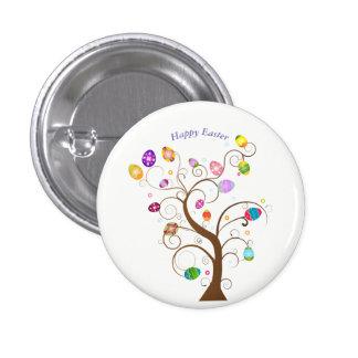 happy Easter Decorative tree eggs Button