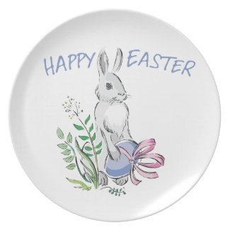 Happy Easter Dish Party Plate