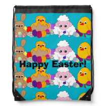 Happy Easter! Drawstring Backpack