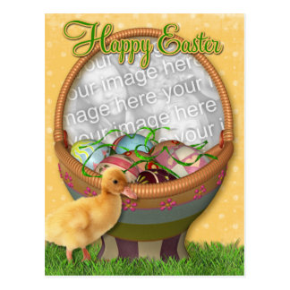 Happy Easter Duckling Postcard