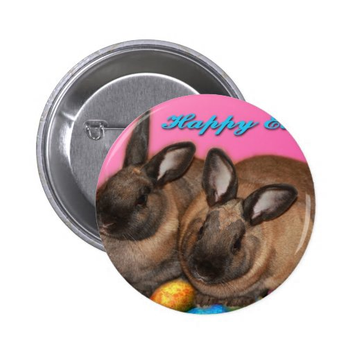 Happy Easter Easter Bunnies With Easter Eggs Pins