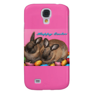 Happy Easter Easter Bunnies With Easter Eggs Samsung Galaxy S4 Cover