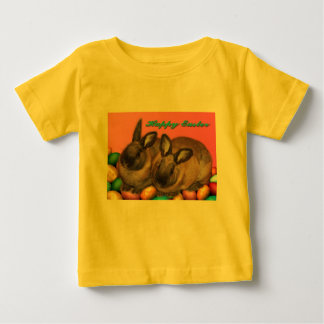 Happy Easter Easter Bunnies With Easter Eggs Shirt