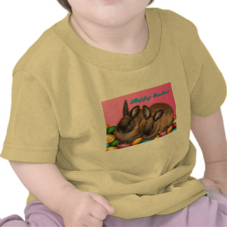 Happy Easter Easter Bunnies With Easter Eggs T Shirts