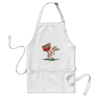 """""""Happy Easter"""" Easter bunny Adult Apron"""