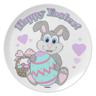 Happy Easter Easter Bunny Plate