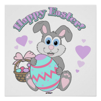 Happy Easter! Easter Bunny Posters