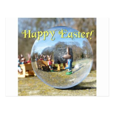 Beach Themed Happy Easter! Easter Bunny school 02.0.T Postcard