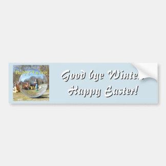 Happy Easter! Easter Bunny school 02.2.T Bumper Sticker