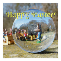 Happy Easter! Easter Bunny school 02 Poster