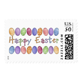 Happy Easter - Easter Egg Border Tees and Gifts Postage