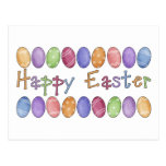 Happy Easter - Easter Egg Border Tees and Gifts Postcards