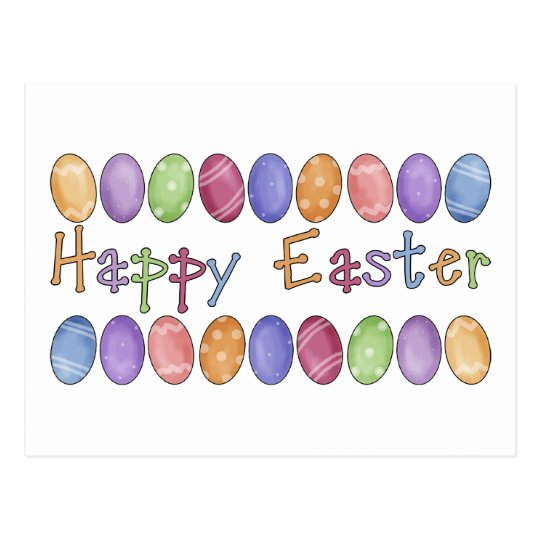 Happy Easter - Easter Egg Border Tees and Gifts Postcard