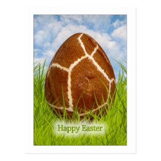 Happy Easter - Easter Egg -  Giraffe Skin Photo Postcard