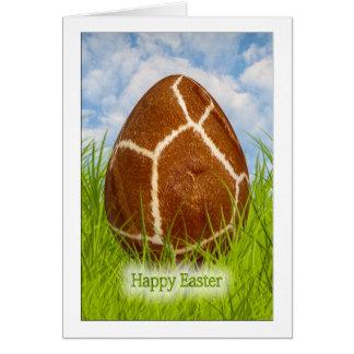 Happy Easter - Easter Egg -  Giraffe Skin Photo Stationery Note Card
