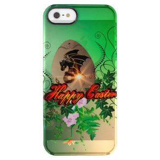 Happy easter, easter egg with funny dragon uncommon clearly™ deflector iPhone 5 case