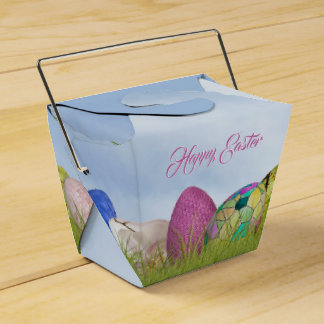 Happy Easter - Easter Eggs Floral Photography Favor Box